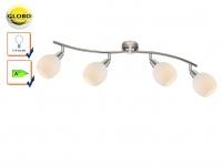 LED Deckenlampe Deckenstrahler ELLIOTT, Glasschirme, Deckenleuchte schwenkbar