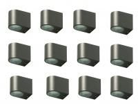 12x LED Außenwandleuchte Bastia Aluminium Anthrazit Down Light Wandleuchte Außen