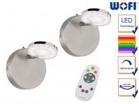 2 Stk. LED Wandleuchte Fernbedienung dimmbar Farbwechsel Nachtlicht Wandstrahler