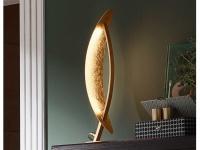 Design LED Nachttischleuchte 6 Watt Goldfarben Höhe 41 cm elegante Dekoleuchten
