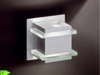 Wandleuchte, Aluminium matt, Glas satiniert, Honsel-Leuchten, BALTIMORE