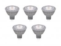 5er-Set LED HP Leuchtmittel 5W warmweiß, GU5.3, 12V, 345 Lm, XQ13166