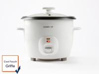 Kompakter 1, 3 Liter Reiskocher inklusive Messbecher, Kelle und Dampfkorb, Domo