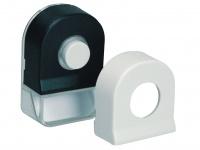 Klingelknopf mit Beleuchtung, Namenschild und Wechselcover schwarz/weiß