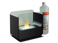 Design Tischkamin + 1Liter Bio Ethanol Tischfeuer Glas-Kamin Luxus Dekokamin