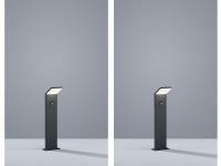 2 LED Pollerleuchten inkl. Bewegungsmelder 50cm hohe Sockelleuchten in anthrazit