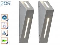 2er-Set Up/Down Außenwandleuchten IMOLA, 6 Watt HP-LEDs, IP44