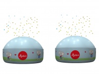 2er Set LED Nachtlichter Lolo Lombardo Sternprojektor LED-Farbwechsler 3 Farben