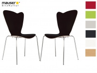 2er Design Stuhl HEART Stapelstuhl Esszimmerstuhl Bistrostuhl Schalenstuhl