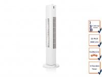 Turmventilator mit Timer Funktion oszillierend 3 Stufen 35W Säulenventilator