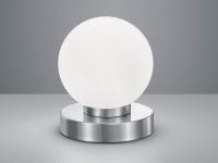 LED Tischlampe Kugelform mit GLAS Lampenschirm weiß Touch Dimmer Wohnraumleuchte