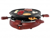 Raclette Partygrill 6 Personen mit Crepesfläche, Grill Tischgrill Crepes Omelett