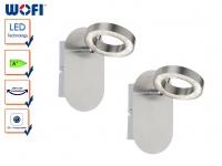 2er Set LED Wandleuchte, schwenkbar, Schalter, Wandlampe Wandleuchte Spot