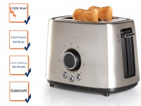 Domo Toaster Edelstahl Toastautomat Toaster mit automatischer Zentrierung