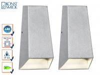 2er-Set Up/Down Außenwandleuchten IMOLA, 6 Watt High-Power-LEDs IP44