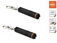 2er Set wasserfeste Mini LED Taschenlampen mit Schlüsselanhänger, Outdoor
