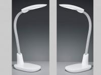 2er SET LED Arbeitsleuchten in weiß USB Anschluss Flexgelenk Touch Dimmer H62cm