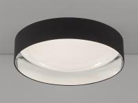 Dimmbare LED Sternenhimmel Deckenlampe Ø80cm, Lampenschirm Stoff schwarz silber