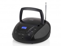 Tragbares Radio schwarz mit CD-Player & FM Tuner, Aux-in für MP3 Player, Stereo