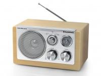 Stylisches Retro Radio, Buche Optik, Aux-in-5 Watt, MW / UKW TRISTAR