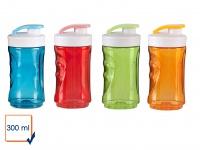 4er Set Ersatzbehälter / Trinkflasche für Smoothie Maker Mixer 300ml, DOMO