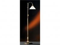 Elegante Stehleuchte Antwerpen, höhe 175 cm, altmessing, Honsel-Leuchten