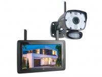 IP Überwachungskamera Set mit Aufzeichung 9 Zoll Monitor, Handy Überwachungs App