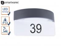 Außenwandleuchte / Hausnummernleuchte Aluminium 9W LED Dämmerungssensor IP54