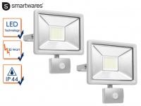 2 LED Strahler 30W Fluter Bewegungmelder 10Meter Scheinwerfer Wandstrahler außen