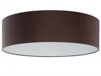 Moderne Deckenleuchte Ø 60 cm, Stoffschirm grau-braun, Fischer-Leuchten