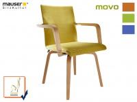 Armlehnstuhl MOVO grün Esszimmerstuhl Küchenstuhl Seniorenstuhl Holzstuhl