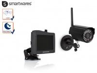 Funkkamera Überwachung Outdoor mit Nachtsicht + 4, 3Zoll Touchscreen, Videokamera