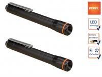2Stk. Taschenlampen mit Befestigungsclip, LED Penlight für Beruf Freizeit Hobby