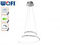 Dimmbare LED Pendelleuchte VISIO, Ø 50 cm, LED Hängeleuchte Hängelampe Pendel