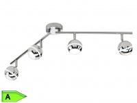 Trio SMD-LED-Balken, inkl. 4 x 4, 2W LEDs, Länge 83cm, chromfarben