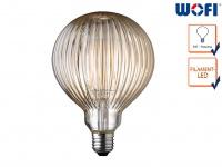 FILAMENT LED Leuchtmittel mit Rillen-Struktur 4 Watt 300 Lumen, 1800 Kelvin, E27