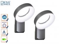 2er-Set Wandleuchten ASTI, anthrazit, 18W HP-LEDs, 1400 Lumen 5000K
