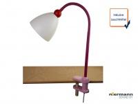 Biegsame LED Klammerleuchte Leseleuchte Schnurschalter & Flexrohr LISA Mädchen