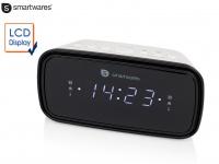 Uhrenradio mit großem LCD Display 2 Weckzeiten Schlummerfunktion, Radiowecker