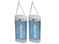 2er-Set Insektenvernichter UV-Lampe, Fliegenfalle Insektenfalle Mückefalle