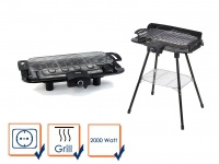 NEU Elektrogrill Standgrill & Tischgrill 2000Watt CAMPING geeignet Elektro Grill