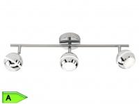 Trio SMD-LED-Deckenbalken, ink.3x4, 2W LEDs, Länge 50cm, chromfarbig