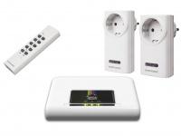 HomeWizard Starterset, 1x IP Gateway Box, 2x Funkschalter, 1x Fernbed.
