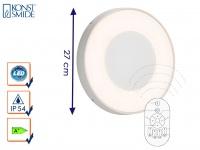 LED Wandleuchte / Deckenleuchte CARRARA weiß inkl. Fernbedienung, 25 Watt, IP54