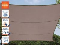 Sonnensegel rechteckig 12m² braun, wasserfester Sonnenschutz für Terrasse Balkon
