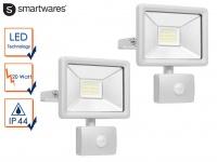 2 Stk LED Strahler Fluter mit Bewegungmelder 20W Scheinwerfer Wandstrahler außen