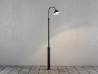 LED Standleuchte Wegeleuchte VEGA schwarzes Aluminium, 700 Lm, 3000K