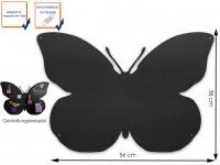 Wandaufbewahrung Deko Memoboard Magnettafel Schmetterling 56 x 38cm, KalaMitica