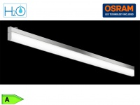 Bad-Wandleuchte, ink. 1 x 12W LED, L.: 120cm, IP44, mit Schalter Chrom
