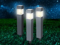 Gartendeko Erdspießleuchten im 3er SET - LED Solarbeleuchtung für draußen, IP44